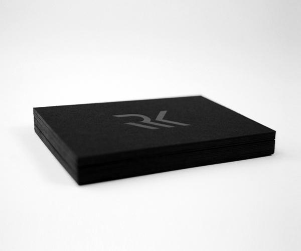 Running with knives on Behance #business #card #monogram #minimal #logo #foil