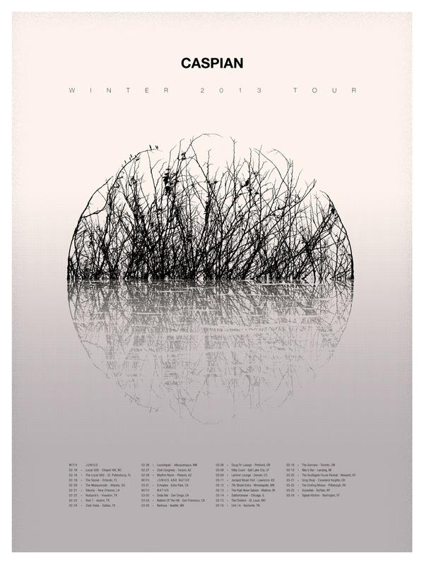 Caspian 2013 Tour Poster #fork #poster #music #sam #east #kaufman