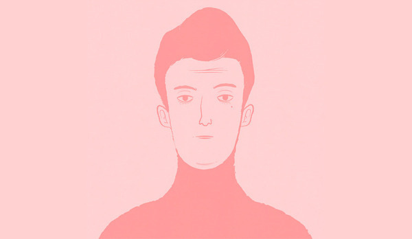 A Serious Man, by Javier Arce #inspiration #creative #pink #design #graphic #illustration #portrait #man