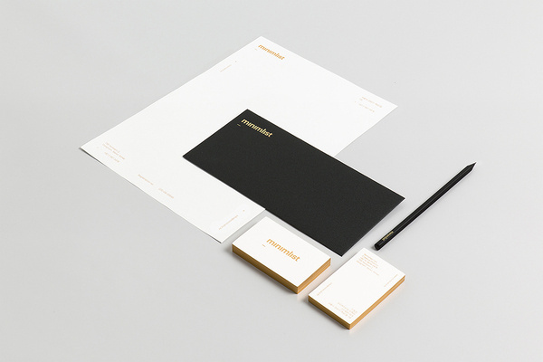 minimalist | minimalist BI #edge #coloring #business #card #print #envelope