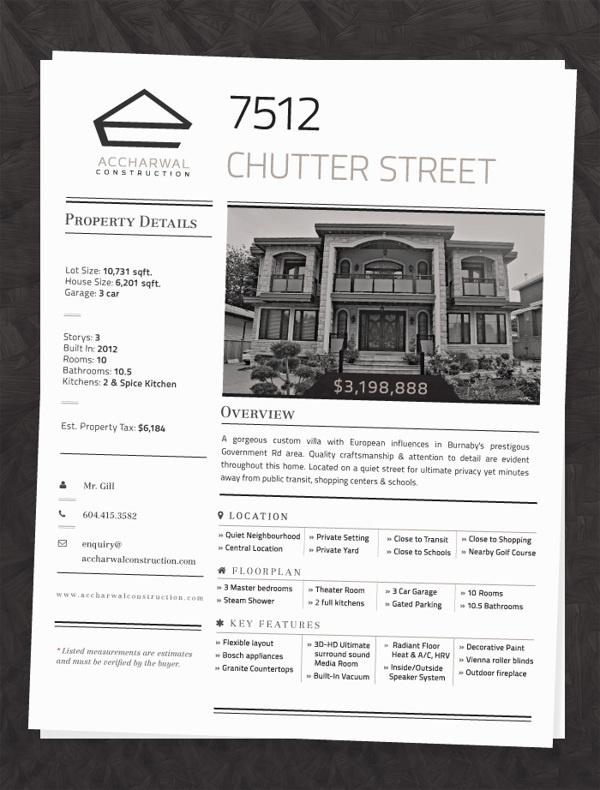 Accharwal Construction - Home Information Sheet #information #construction #infographic #design #home #real #sheet #estate