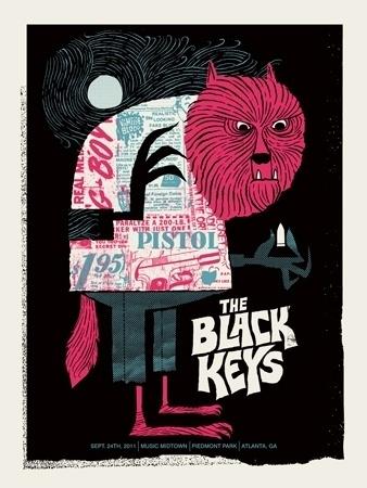 BLACK-KEYS-ATLANTA-WOLF.jpg 338×450 pixels #werewolf #methane #wolfman #poster #typography