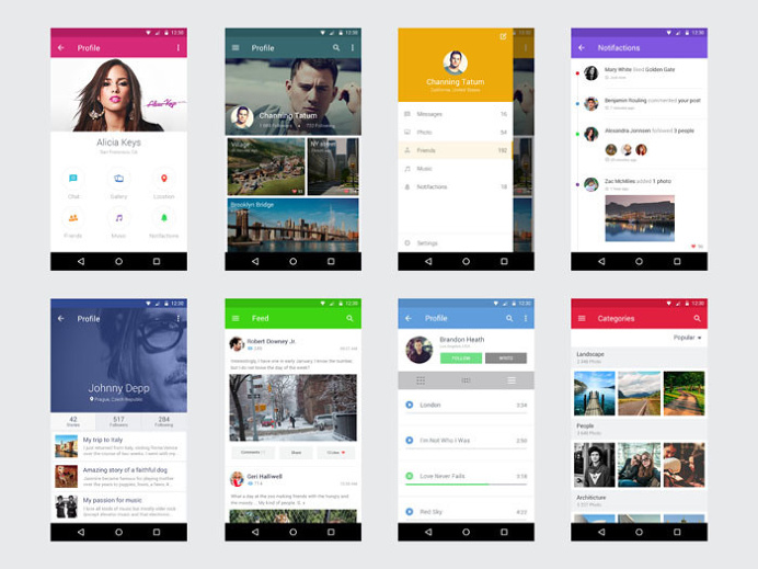 Best Freebies Free Android Ui Kit images on Designspiration