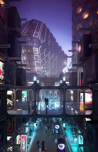 jean-marc-emy-summer-metabolism.jpg 695×1080 pixels #emy #visualisation #blade #runner #tokyo #metabolisme #architecture #japan