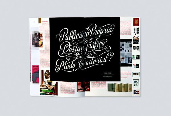 Pli Magazine 2-3 by Atelier Martino & Jana (2012) #calligraphy #editorial #portugal