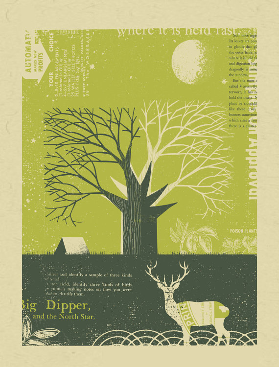 il_570xN.400240413_husj #illustration #deer #tree