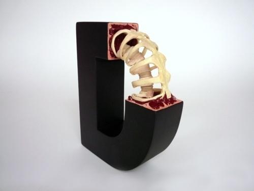 Tumblr #sculpture #scheiger #typography #arts #evolution #type #fine