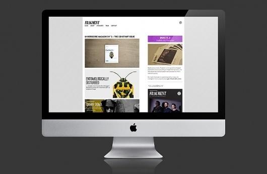 James Kirkups portfolio #design #website #blog #fragment #web #magazine