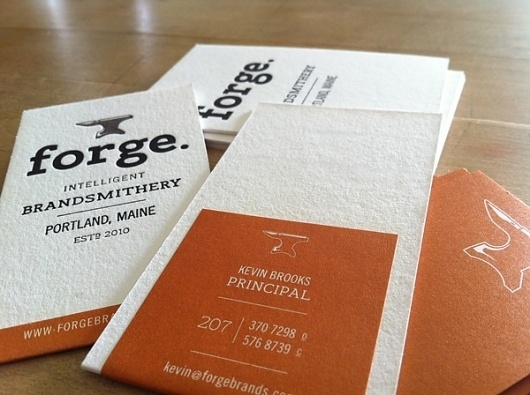 Forge Business Card - FPO: For Print Only #card #forge #business