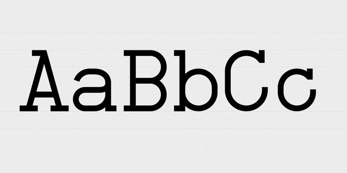 NB-Typewriter55-abc #font #mono #type