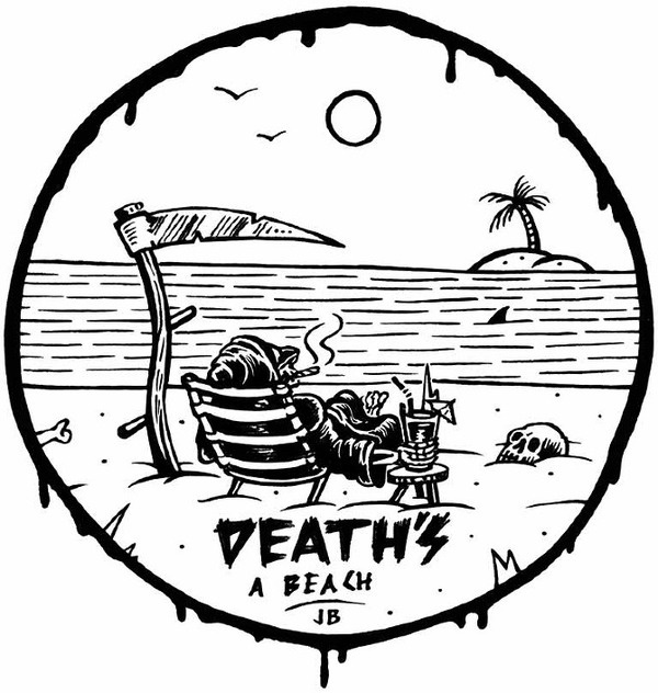 Death's A Beach Jamie Browne Art #illustration #death