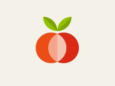 apple orange #logo #illustration #fruit