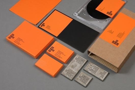 Because Studio — Design & Art Direction/Low Winter Sun / Bench.li #design #orange #graphic #stationery #typography