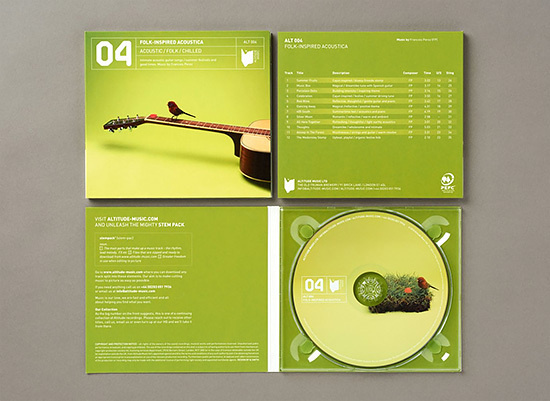 Altitude Music Branding by & SMITH #green