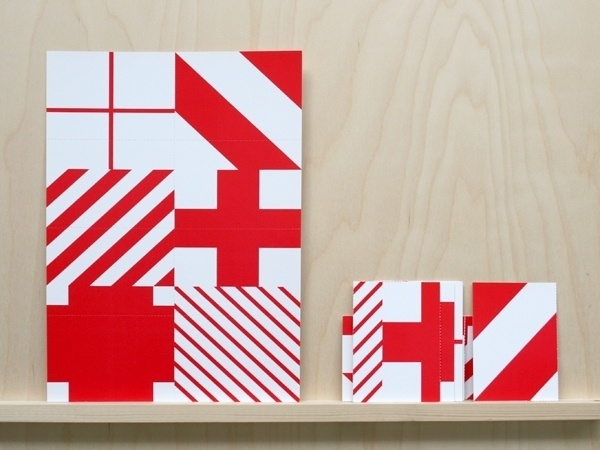 electric palm tree | na kim #red #pattern #cross #flyer #shapes