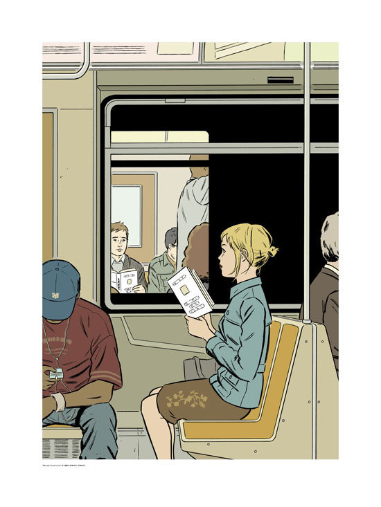 ADRIAN TOMINE #subway #tomine #illustration #adrian