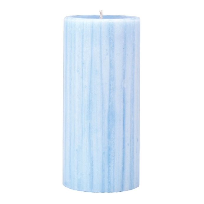 Marbled Pillar Lotus Flower & Topaz Water Scented Candle, 15 x 7 cm
