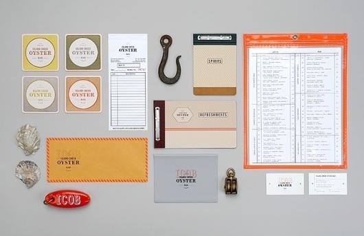 Dribbble - icob_set.jpg by Jennifer Lucey-Brzoza #menu #coasters #identity #restaurant