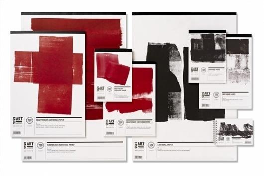 Cass Art Cartridge Paper Packaging, Pentagram - Creative Journal #grids #color #identity #clean