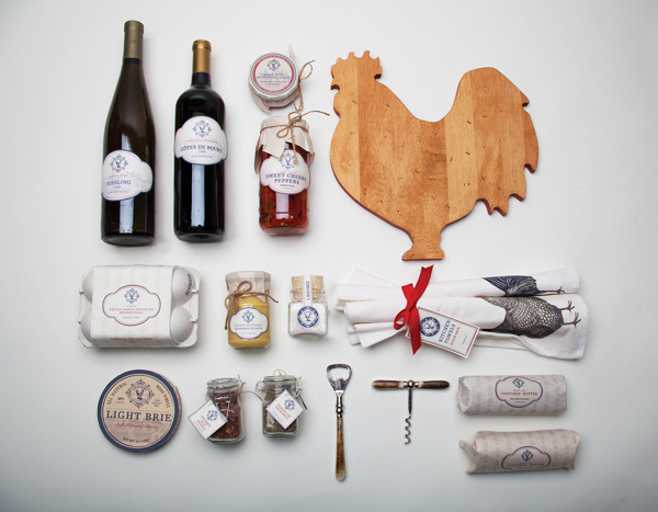 Classic French style deli packaging #deli #packaging #classic #design #french