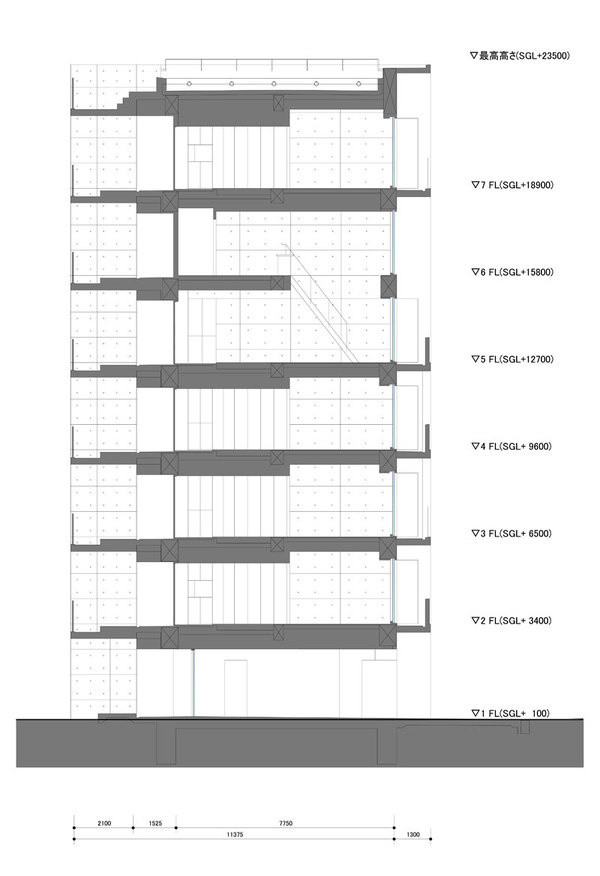 Apartment in Katayama ~ Elevation, Section and Floor Plans – WHAT WE DO IS SECRET #drawings #towers #architecture #sections #japan #housing
