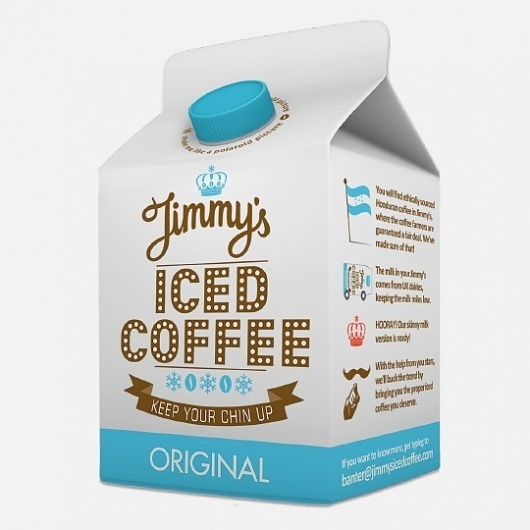 Jimmy's Iced Coffee packaging designed by Interabang | Feature Me | Feature Me #milk #design #inspiration #package