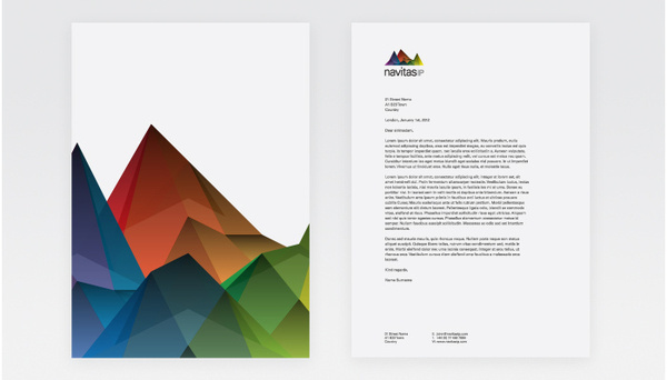 Branding agency award winning design interiors architect brand London #mountain #branding #color #multi #pitch #identity #letterhead