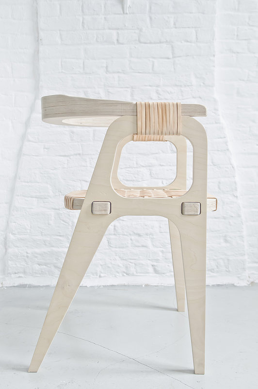 """A day in the land of nobody - """"Bind/B1""""Chair by Jessy Van Durme #product #furniture #design #wood"""