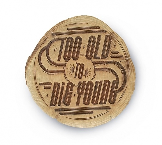 Just My Type Exhibition on the Behance Network #wood #vintage #typography