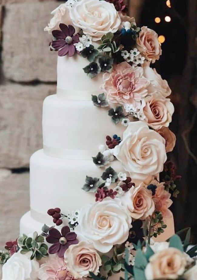 flower wedding cake design
