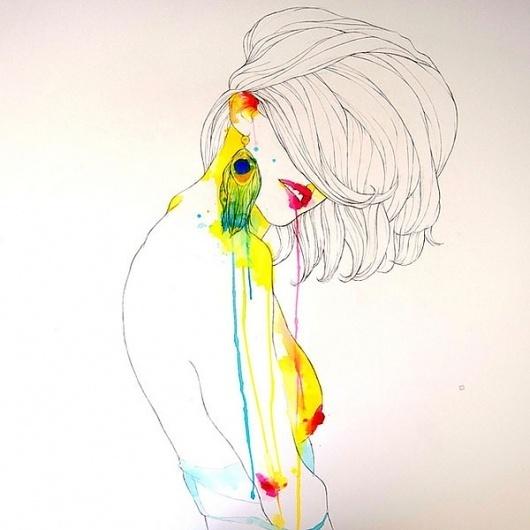 LOVE J #fashion #illustration #colour #water