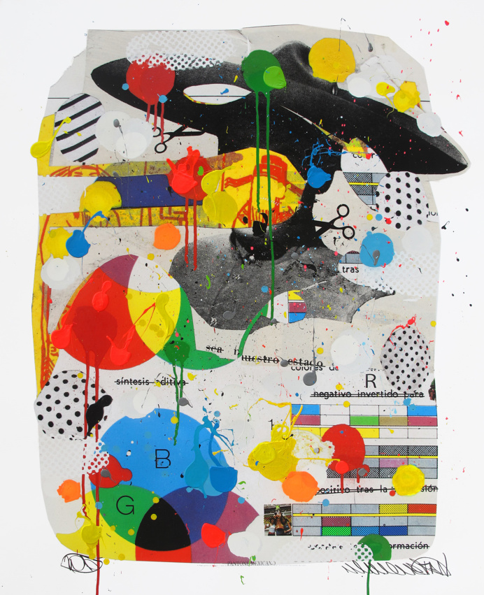 Tan Vargas Collage Mixed Media Primary Colors