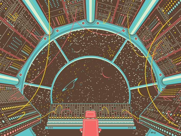 Cockpit #scifi #illustration #vector #space