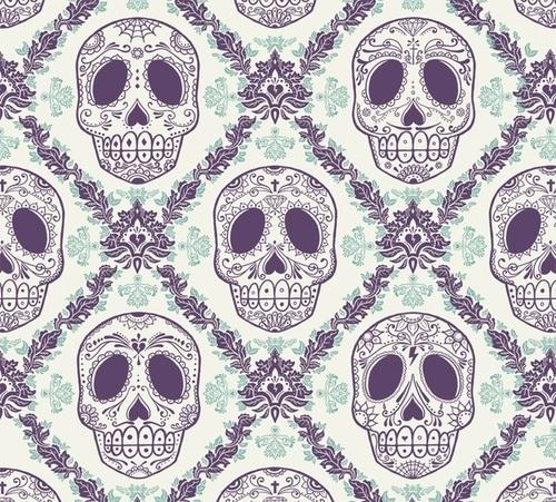 coqueterías - faggotxtronn: (via thefeedback) #pattern #skulls