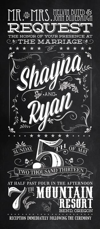 Wedding Invitations #invitations #chalkboard #vintage #invites #type #wedding #typography