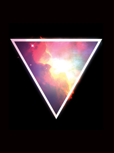 Nebula Triangle Art Print #triangle #space