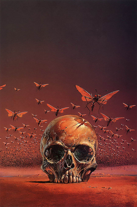 Bruce Pennington The Great Brain, 1971 | Flickr Photo Sharing! #bee #butterfly #insect #illustration #skull
