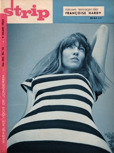 magcoverb.jpg 800×1073 pixels #1960a #stripes #strip #cover #french #fashion