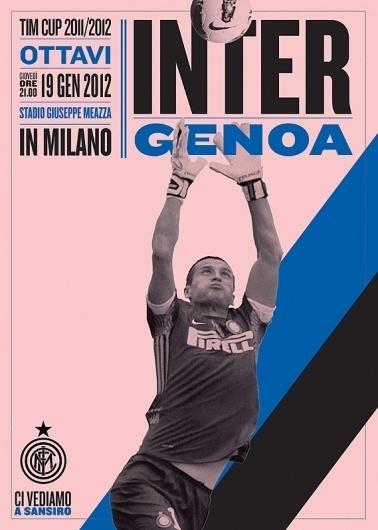 Inter Milan matchday program #inter #footy #goalkeeper #poster #type #football #milan #colour