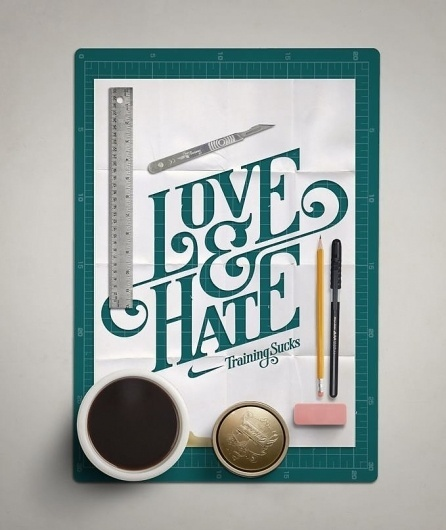 Love & Hate Typography #inspiration #hate #training #nike #love