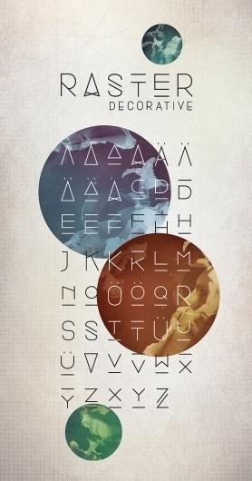 Raster on the Behance Network #font #serif #sans #typeface #decorative #typography