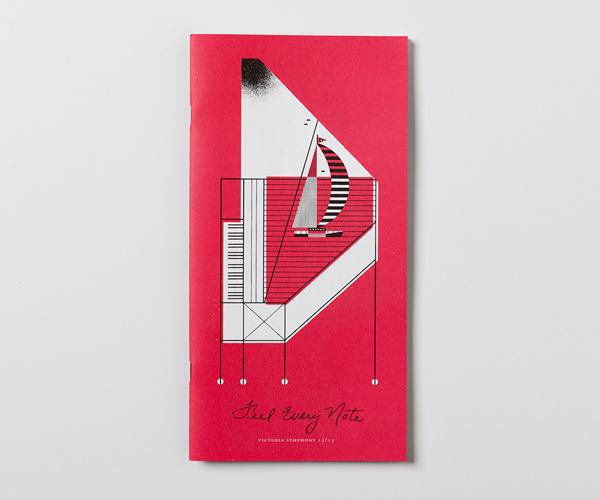 Victoria Symphony 2012/13 on Behance #illustration #design #graphic #brochure