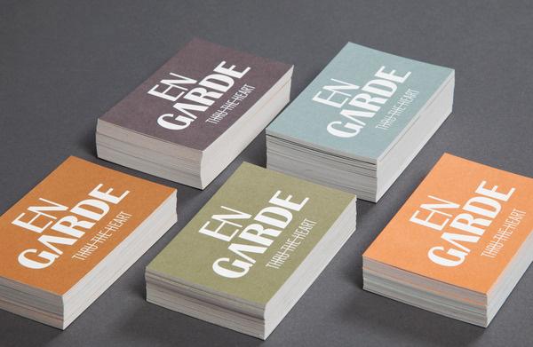 En Garde Corporate Design Verena Michelitsch #business #card #print #identity #logo #cards
