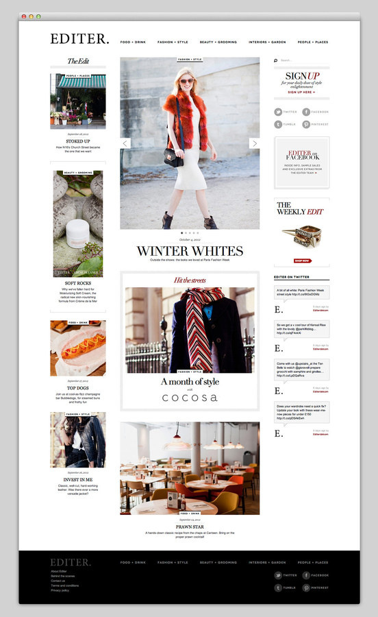 Editer #fashion #layout #web #magazine