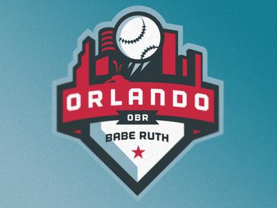 Orlando Babe Ruth Identity #vector #badge #orlando #baseball #logo