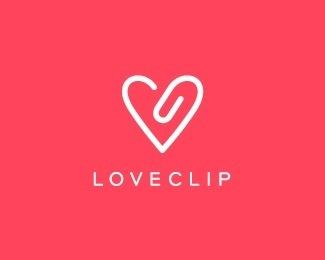 love clip - Logo Design Details| Brandstack #logo #loveclip #idea