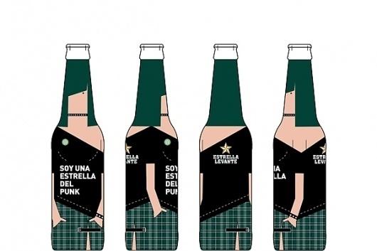 Estrellas de la Música | Sublima Comunicación #rockstar #beer #punk #sublima #packaging #rock #levante #label #star #music #estrella