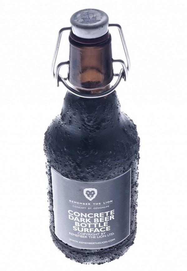 Concrete Bottle surface