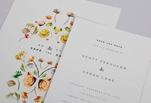 Design Work Life » cataloging inspiration daily #invite #save #date #floral #the #wedding