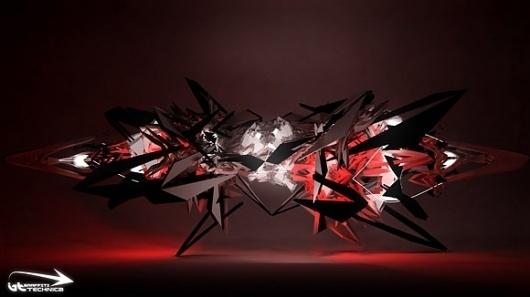 Graffiti Technica - 3d Graffiti #graffiti #art